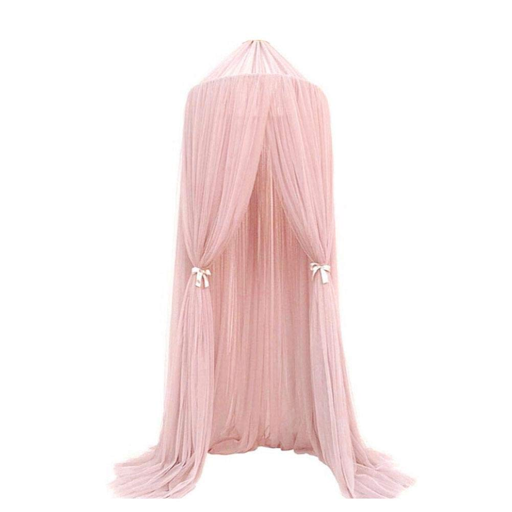 Großhandel Prinzessin 100% Polyester Moskitonetze Pink Conical Bed Canopy